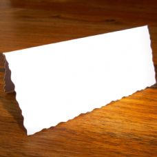 100 X Deckle Edge White Place Setting Cards For Weddings, Parties & Events
